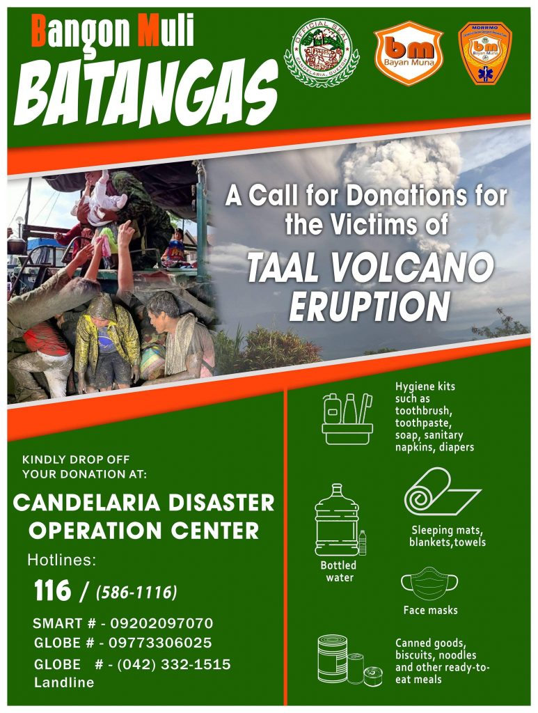 A Call for Donations for the Victims of TAAL VOLCANO ERUPTION